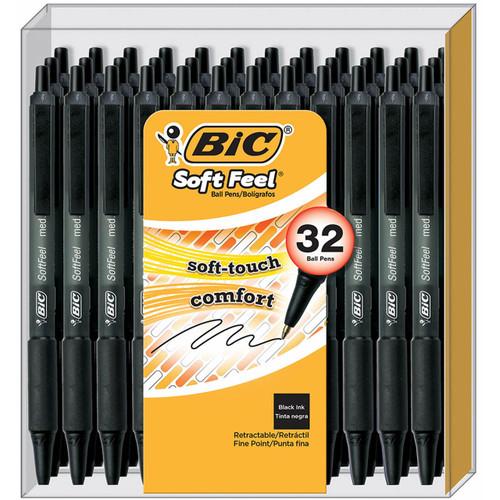 BIC SoftFeel Retractable Pens, 32 ct. (WCBJ331)