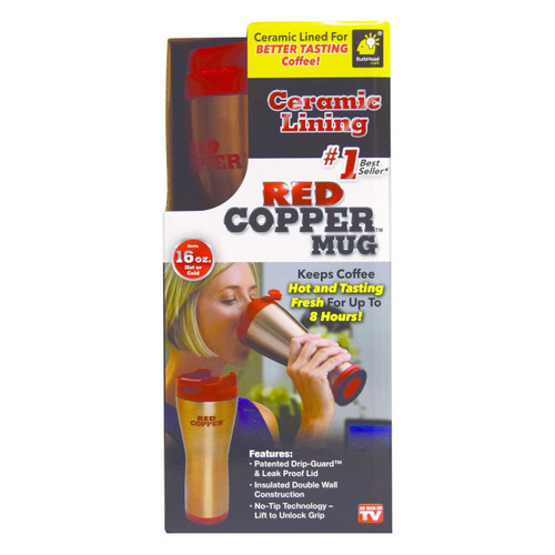 Red Copper Portable Beverage Mug As Seen on TV® (27758)