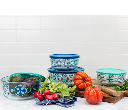 Pyrex 4-piece Decorated Food Storage Set (1050079) (