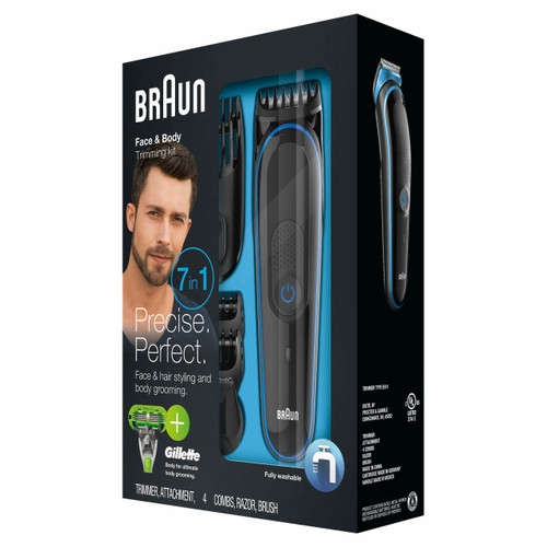 Braun MGK3040 Multi Grooming Kit with Bonus Gillette Body Razor (006905588419) (