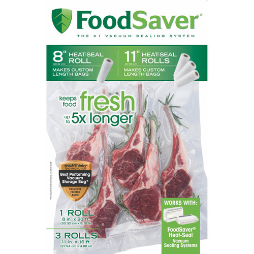 FoodSaver Vacuum Packaging Rolls, 4 pk. (FSFSBF0746-P76 )