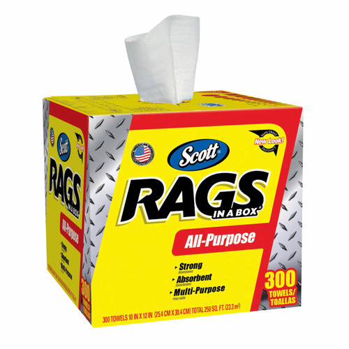 Scott Rags in a Box 300-Sheet Paper Towel Roll (75600 )