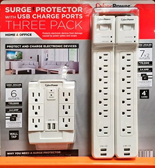 Cyberpower Surge Protector- 3 pk