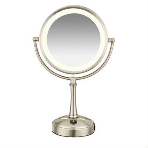 Conair Lighted 8x/1x Magnifying Mirror - Satin Nickel Finish (BE115BJ)