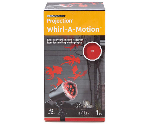 Lightshow Whirl-A-Motion White Ghosts LED Projection Light (02238)