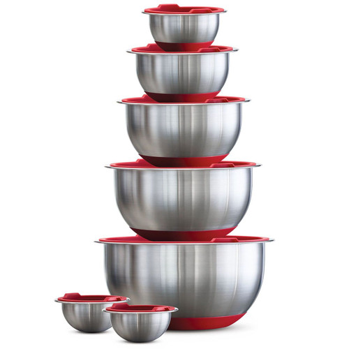 Tramontina 14-Piece Covered Stainless-Steel Mixing Bowl Set (Tramontina