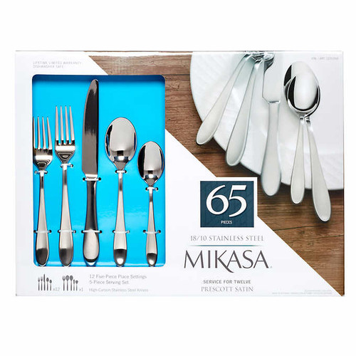 Mikasa Prescott 65-piece Stainless Steel Flatware Set (1261700)