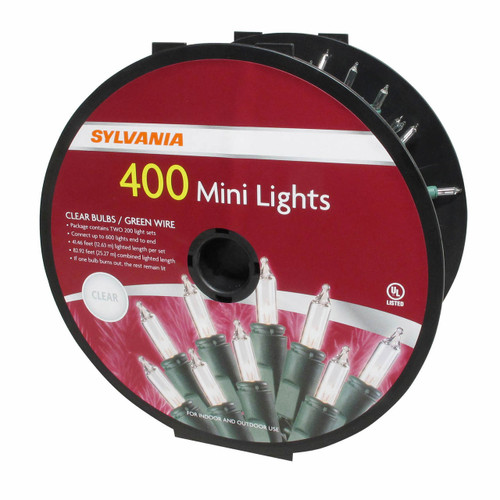 Sylvania Clear Mini Light Set, 400 ct. ( V47001-60)