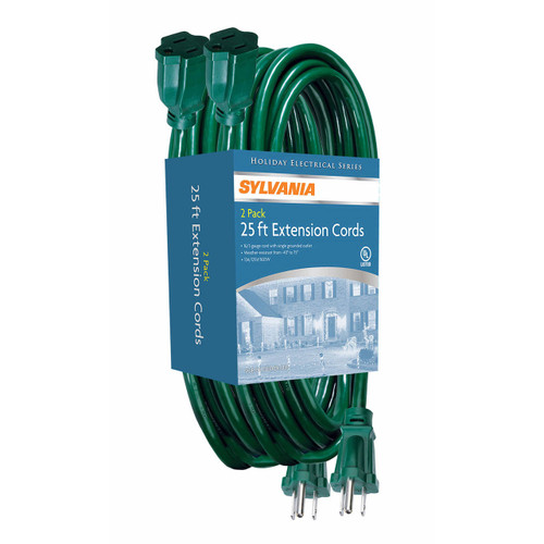 Sylvania 25' Extension Cords, 2 pk. (V2092-60)