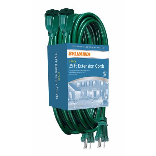 Sylvania 25' Extension Cords, 2 pk. (V2092-60)