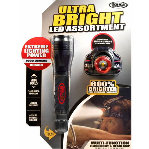 Police Security Ultra Bright LED Assortment Combo Pack (177192)