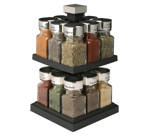 Olde Thompson® Square Rotating 16-Jar Spice Rack ( 25-663-BJ )