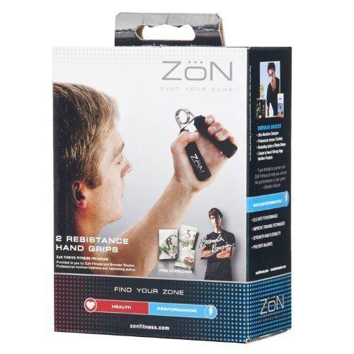 ZON soft black foam coated exercise hand strength resistance grips workout ( ZNBK-HNDGRP)