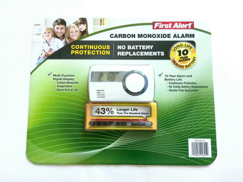 First Alert Carbon Monoxide Alarm With Temperature 10 Year Battery Co1210