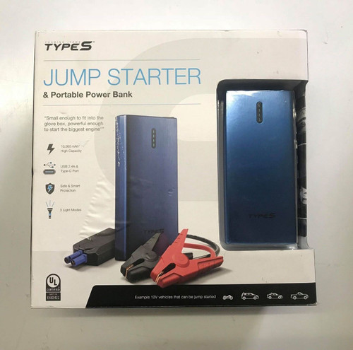 Winplus Type S Lithium Jump Starter And Portable Power Bank (643334567896)