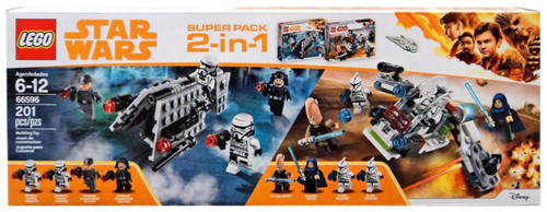 LEGO. Includes LEGO 75207 (Imperial Patrol Battle Pack) & 75206 (Jedi & Clone Troopers Battle Pack). (673419296915)