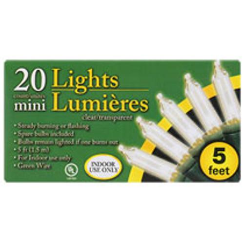20-Bulb Indoor Multicolored Christmas Light Sets, 5-ft. Strands (202020)