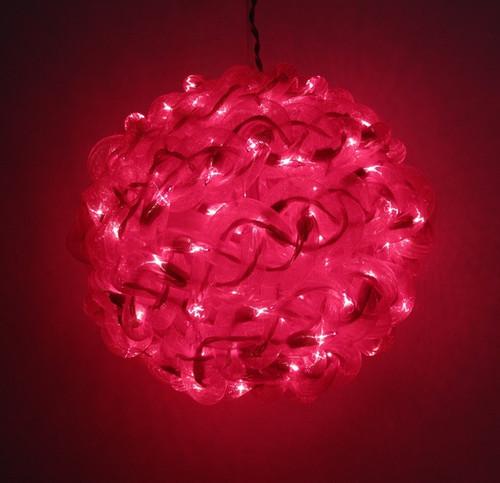 10'' White,Red,or Green Spun Tube Light Ball 100 Lights (197-92709005)