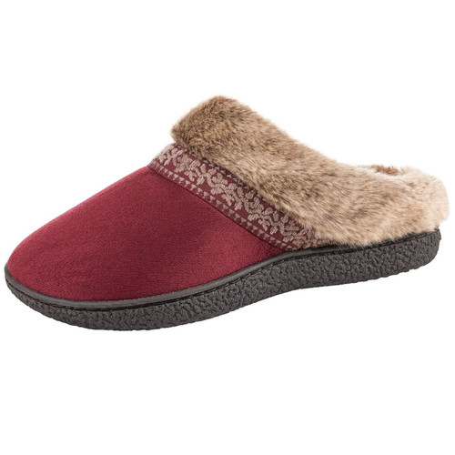 Isotoner Women's Sweater Knit Hoodback Slippers ( 980112714)