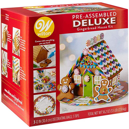 Wilton Pre-Assembled Deluxe Gingerbread House Kit (6791