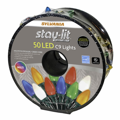 Sylvania StayLit C9 LED Lights, 50 ct. - Multicolor ( V2936-60 )