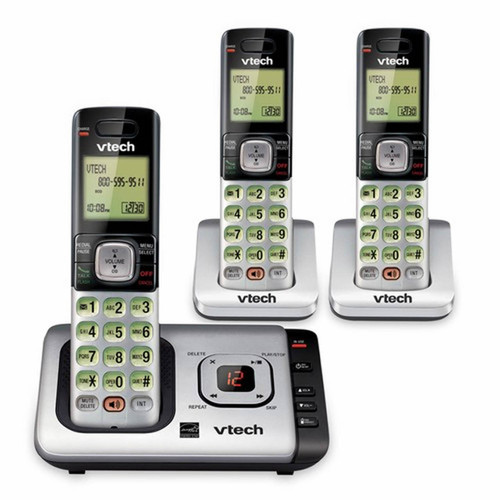 VTECH DECT 6.0 3-Handset Cordless Phone With Caller ID and Call Waiting