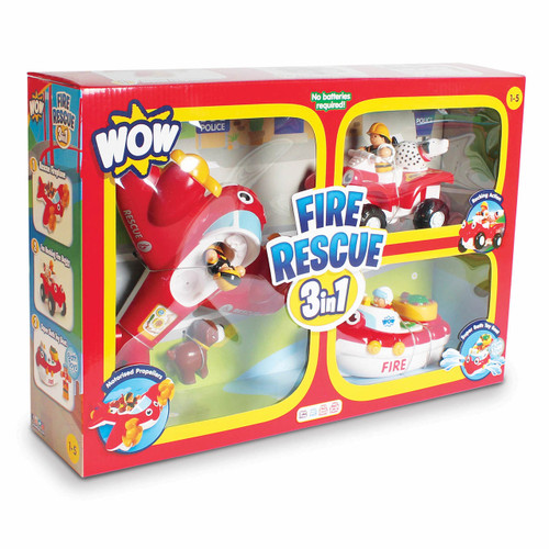 WOW Toys Fire Rescue 3 in 1 Playset, 3 pc. ( 10594)