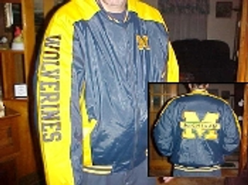 COLLEGE LOGO Nylon/Vinyl Jacket