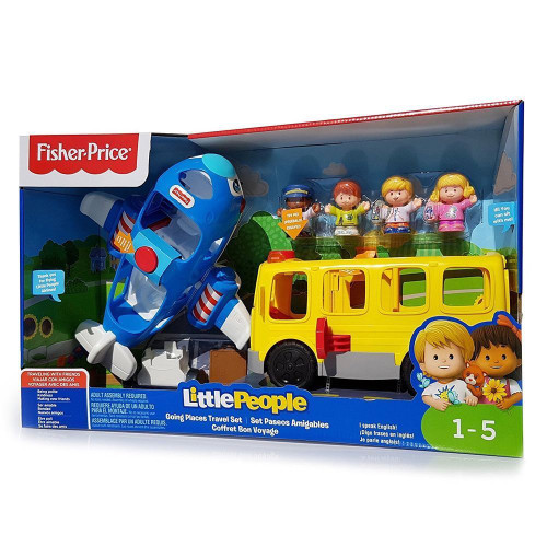 Fisher Price Little People Going Places Travel Bus & Plane Kids Toy Gift Set (90814)