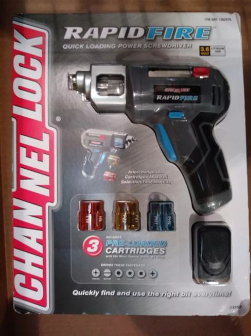 Channel Lock Rapid Fire Power Screwdriver (33652)