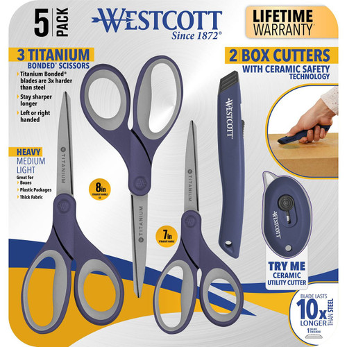 Westcott 5-Pack Cutting Essentials Kit, Select Color (16754)