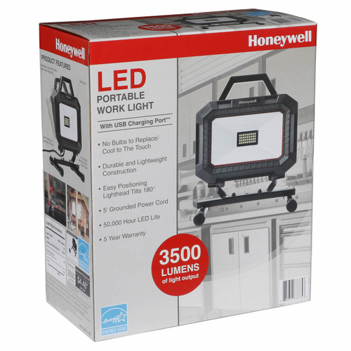 Honeywell LED Corded Work Light with USB Charger (WK103501L150)