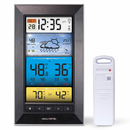 AcuRite Color Weather Station with Indoor and Outdoor Monitoring