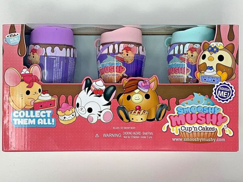 SMOOSHY MUSHY Cup 'n Cakes Series 4 3 Pack Squishy Toy Scented Collectibles (847341049578)