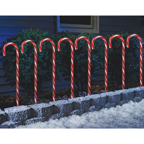 "Sylvania 24"" Candy Cane Pathway Lights, 8 pk. (V21291-60)"