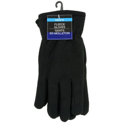Men's Black Fleece Gloves (187495)
