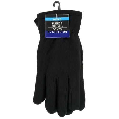 Men's Black Fleece Gloves (187495)