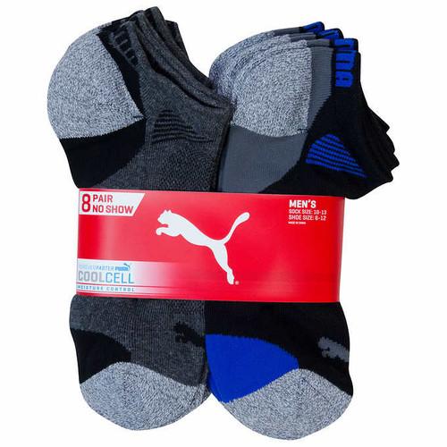 Puma Men's No Show Sock 8-pair