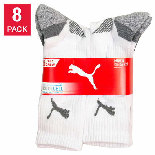 Puma Men's Crew Sock, 8-pair