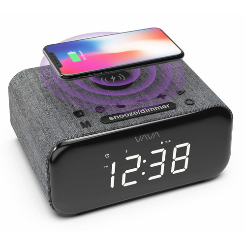VAVA 4-in-1 Alarm Clock Bluetooth Speaker
