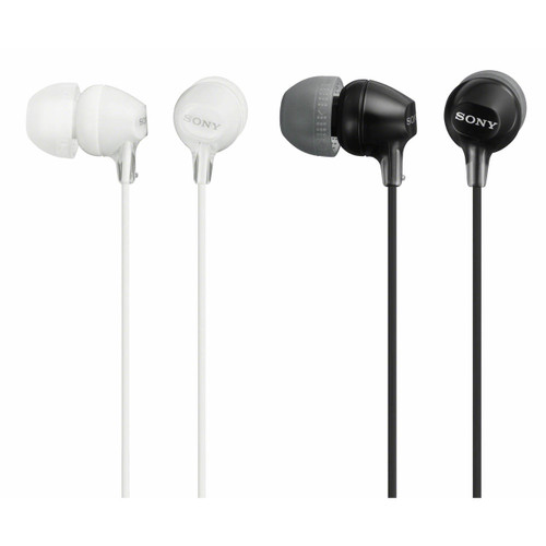 Sony In-Ear Smart Headphones, 2 pk. - Black and White ( MDREX15APBLBJ)