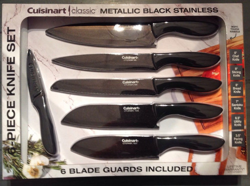 Cuisinart Classic Metallic Black Stainless Knife Set (1222510)