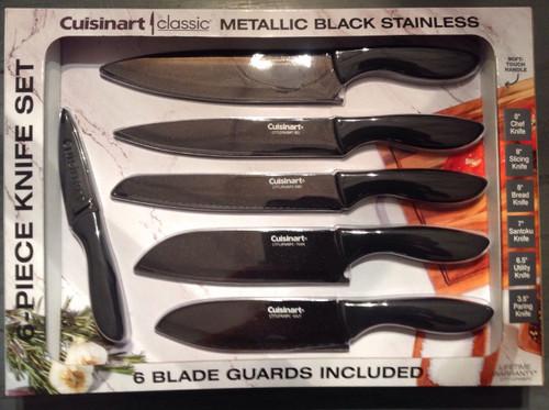Cuisinart Classic Metallic Black Stainless Knife Set (1222510)