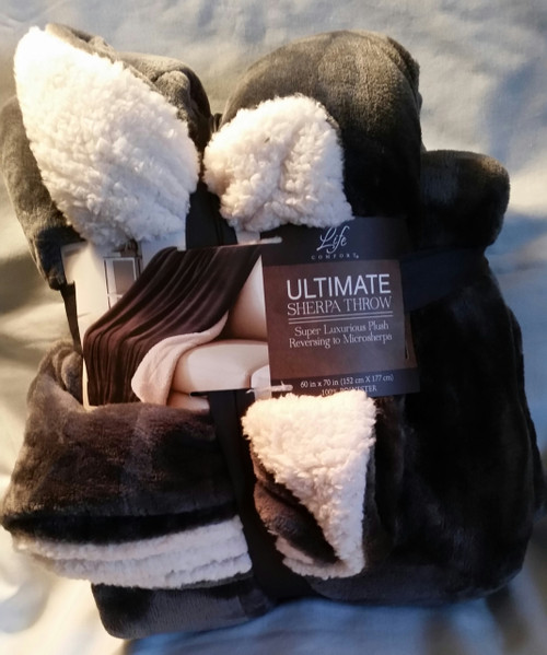 Life Comfort Ultimate Sherpa Throw (778267177451)
