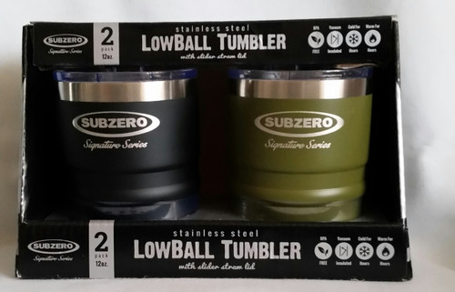 Subzero Stainless Steel Lowball Tumbler 2 pack (816066029097)