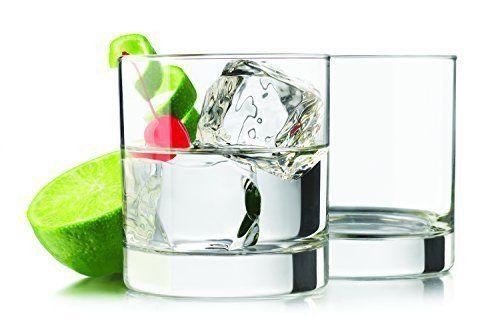 Libbey Heavy Base Rocks 4 piece set Drinking Glasses 11.7 oz