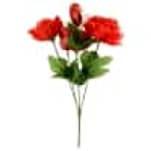 Artificial Red or Pink Rose Bouquets with Sparkly Hearts (283545)