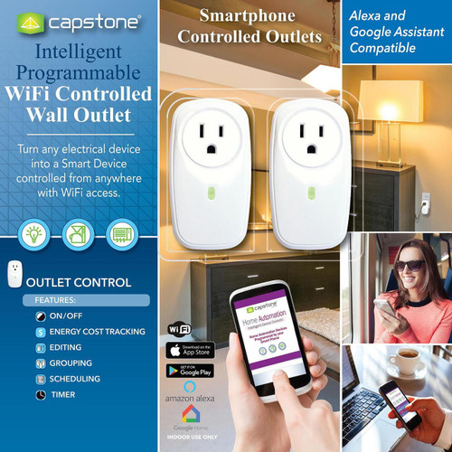 Capstone Intelligent Programmable WiFi Controlled Wall Outlets (980127816)