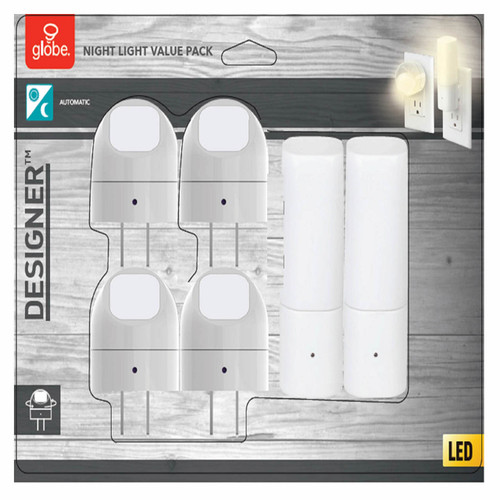 Globe Electric Automatic Dusk to Dawn Directional and Cylinder LED Night Light Set ( 89899)
