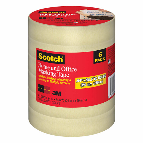 Scotch Home and Office Masking Tape, 6 pk. ( 3437-6-MP)